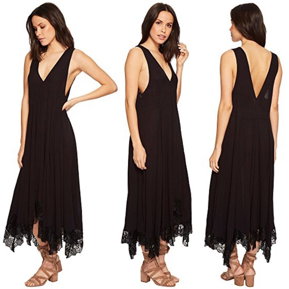 ec9191c52401 Free People Dresses & Skirts - Free People Girl Like You Black Lace Slip  Dress